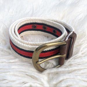 Wild Classic Boat Weave Patriotic Belt M